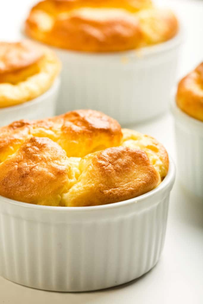 Parmesan and Gruyere cheese souffle - foods that start with c