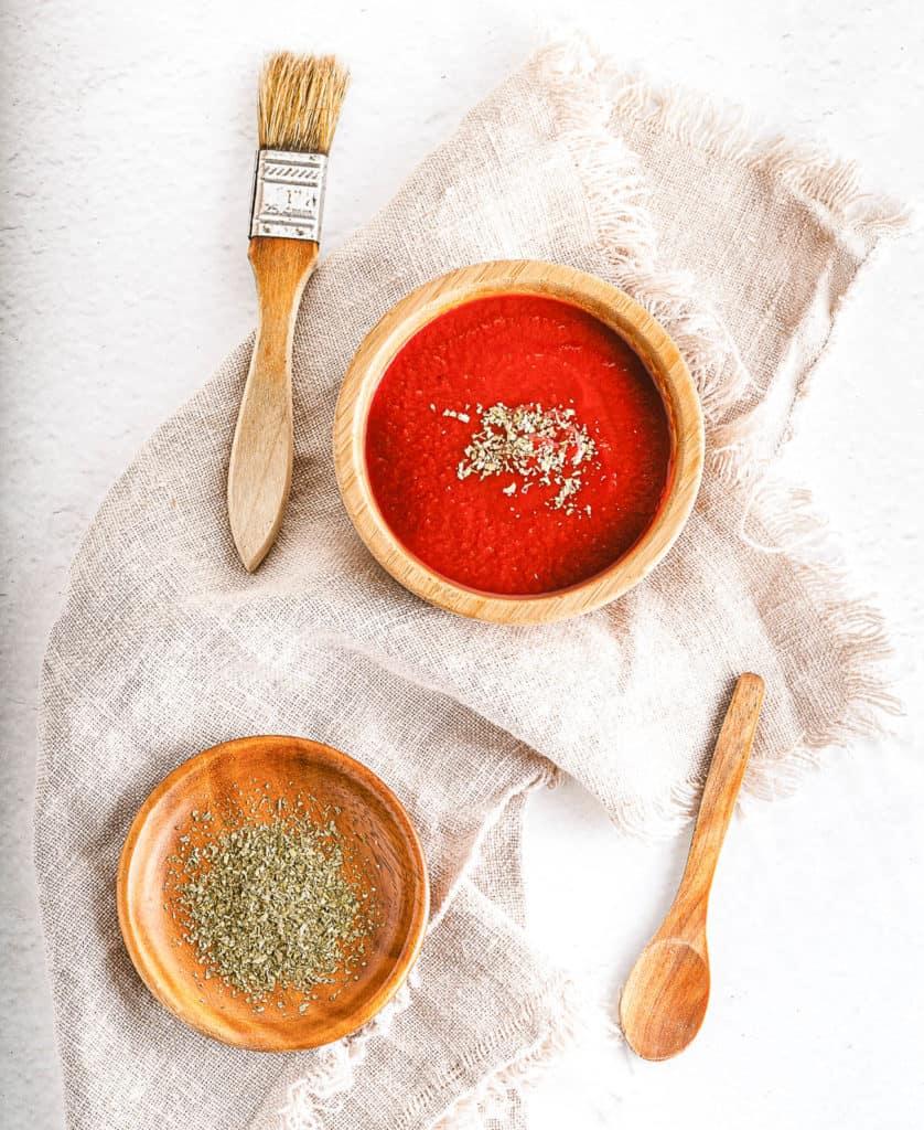 vegan bbq sauce in a large bowl