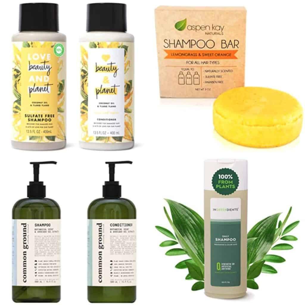 Vegan Shampoo Brands: Love, Beauty and Planet, Aspen Kay Shampoo Bar, Common Ground, Ingreedeints.