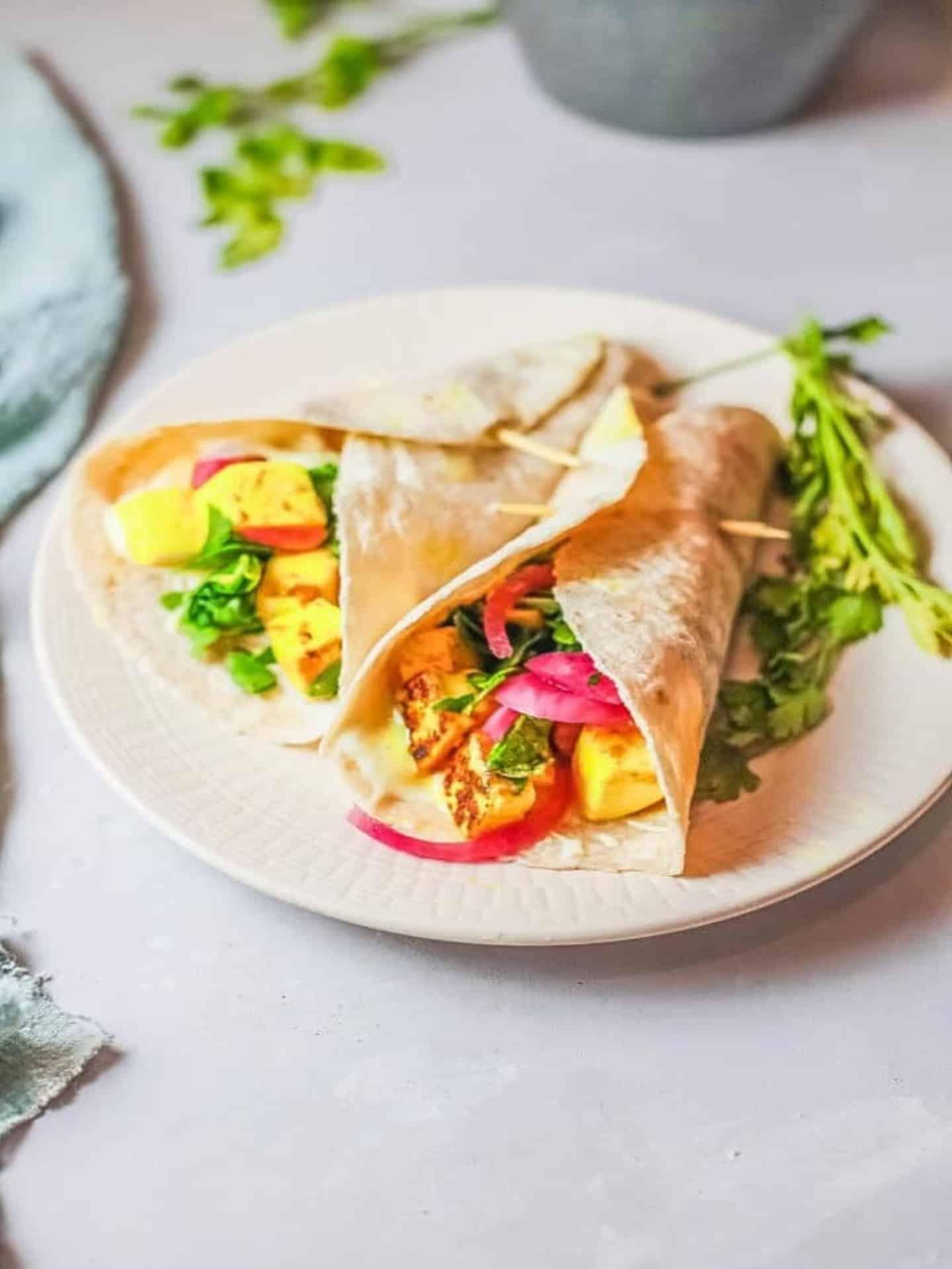 veggie shawarma on plate
