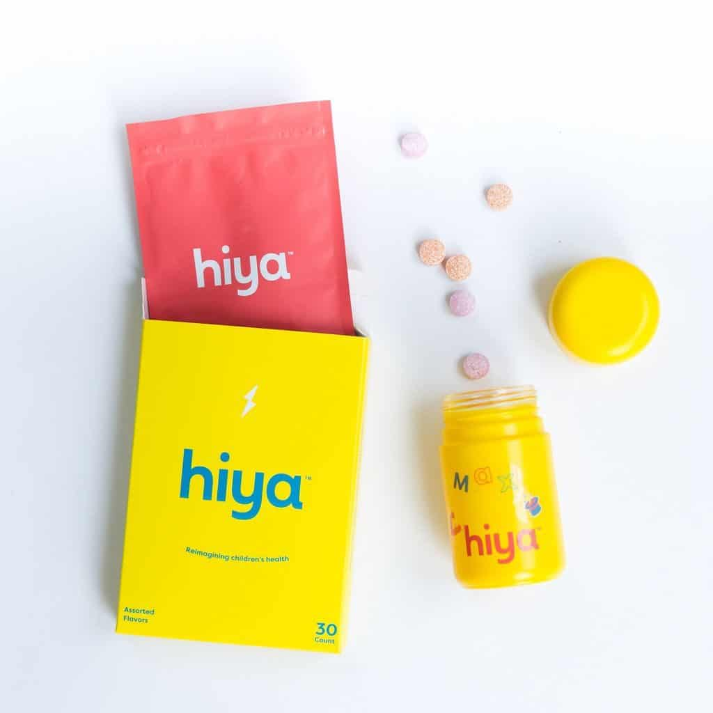 bottle of hiya vitamins with refillable pouch