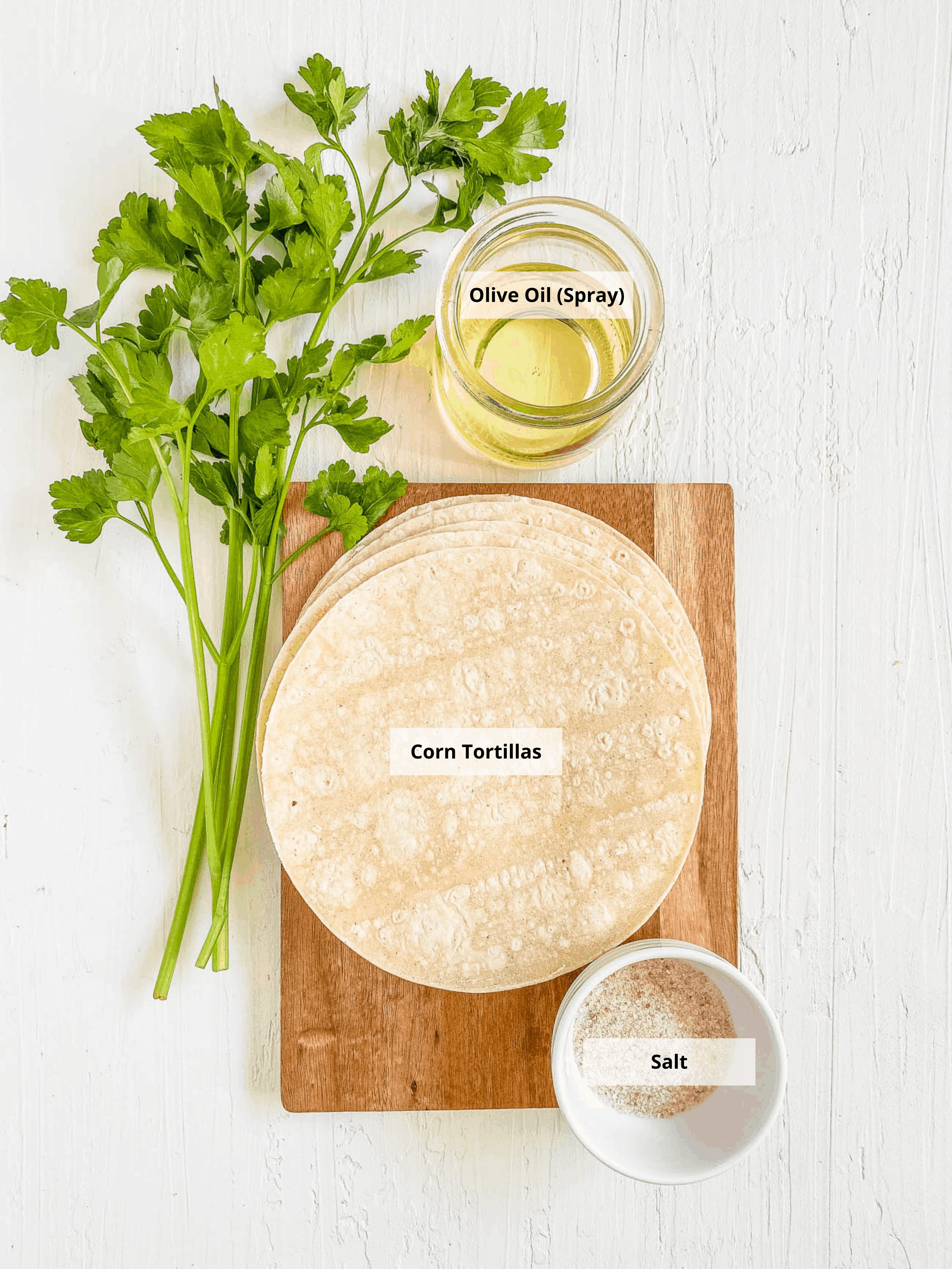 ingredients for air fryer tortilla chips