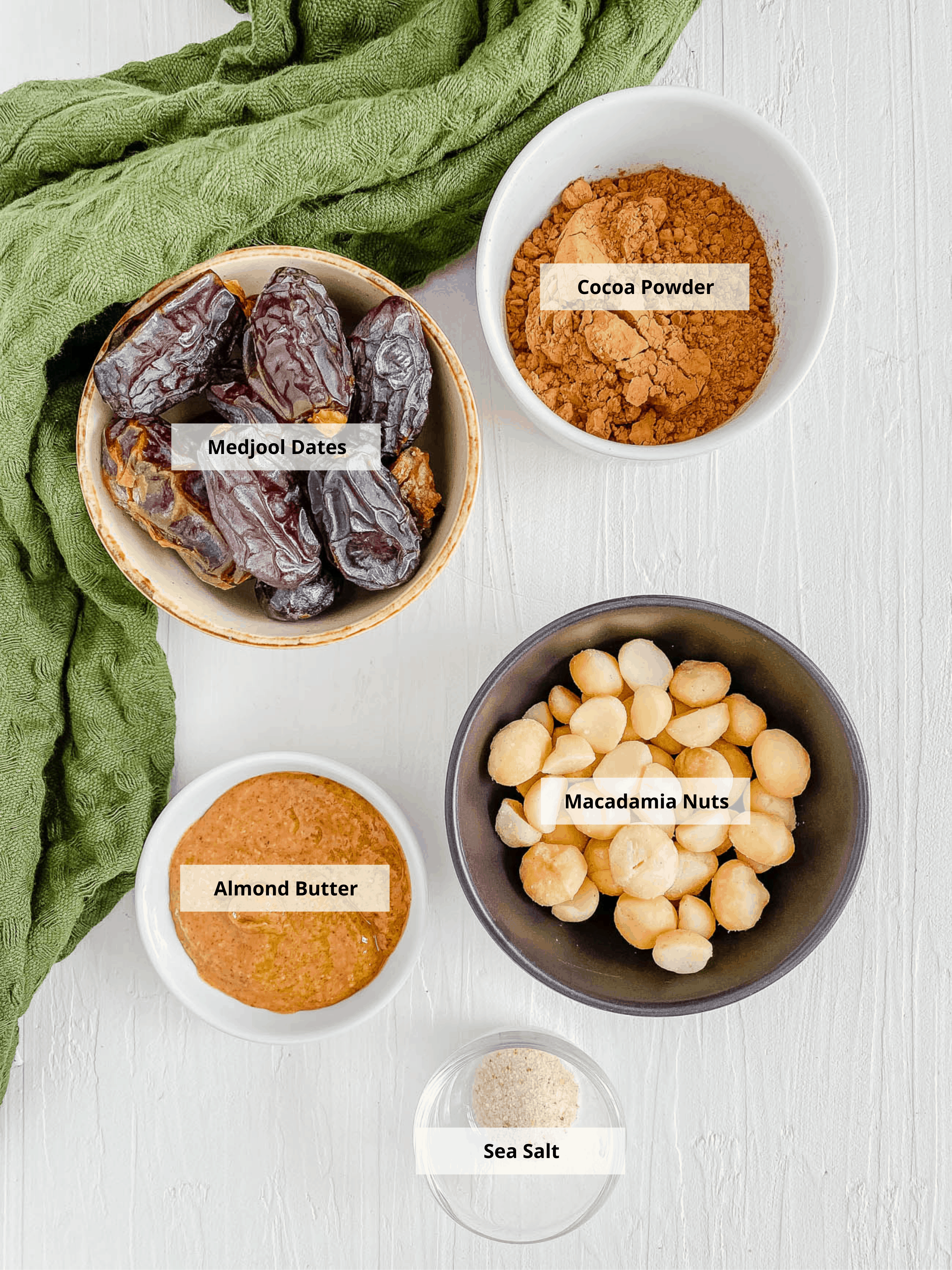 ingredients for no bake healthy date bars
