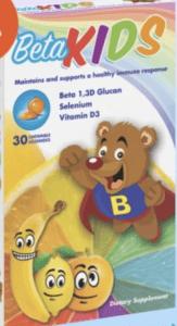 beta kids beta glucan for kids immune supplement