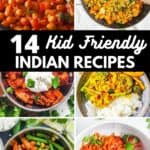 Collage of kid friendly Indian recipes.
