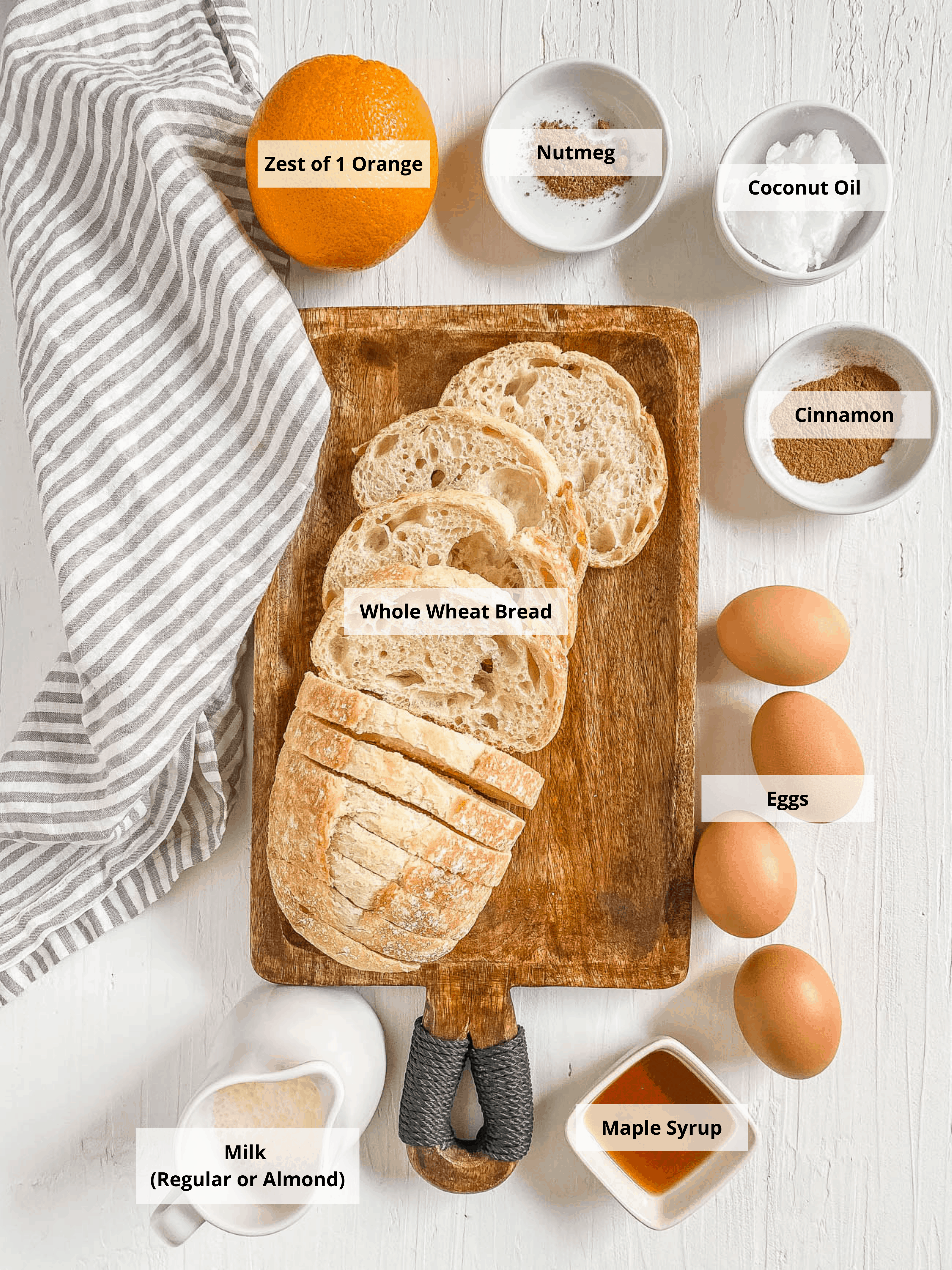 ingredients for healthy french toast