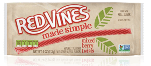 package of low calorie candy - red vines