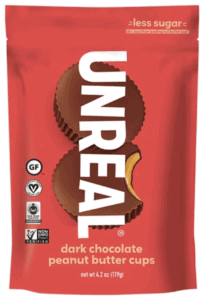 unreal chocolate - package of low calorie candy