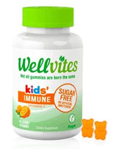 Wellvites Bottle of vitamins.