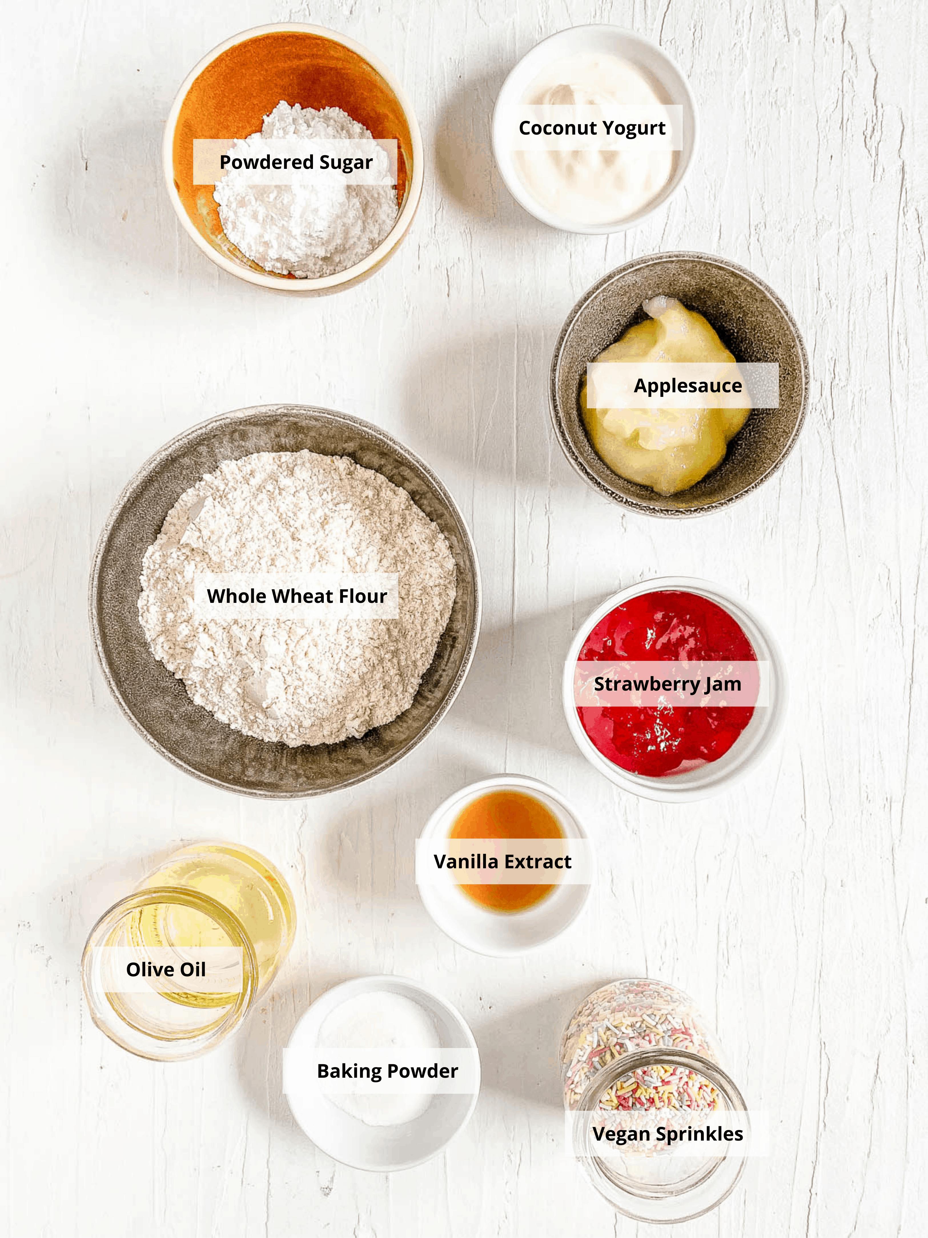 ingredients for healthy vegan pop tarts