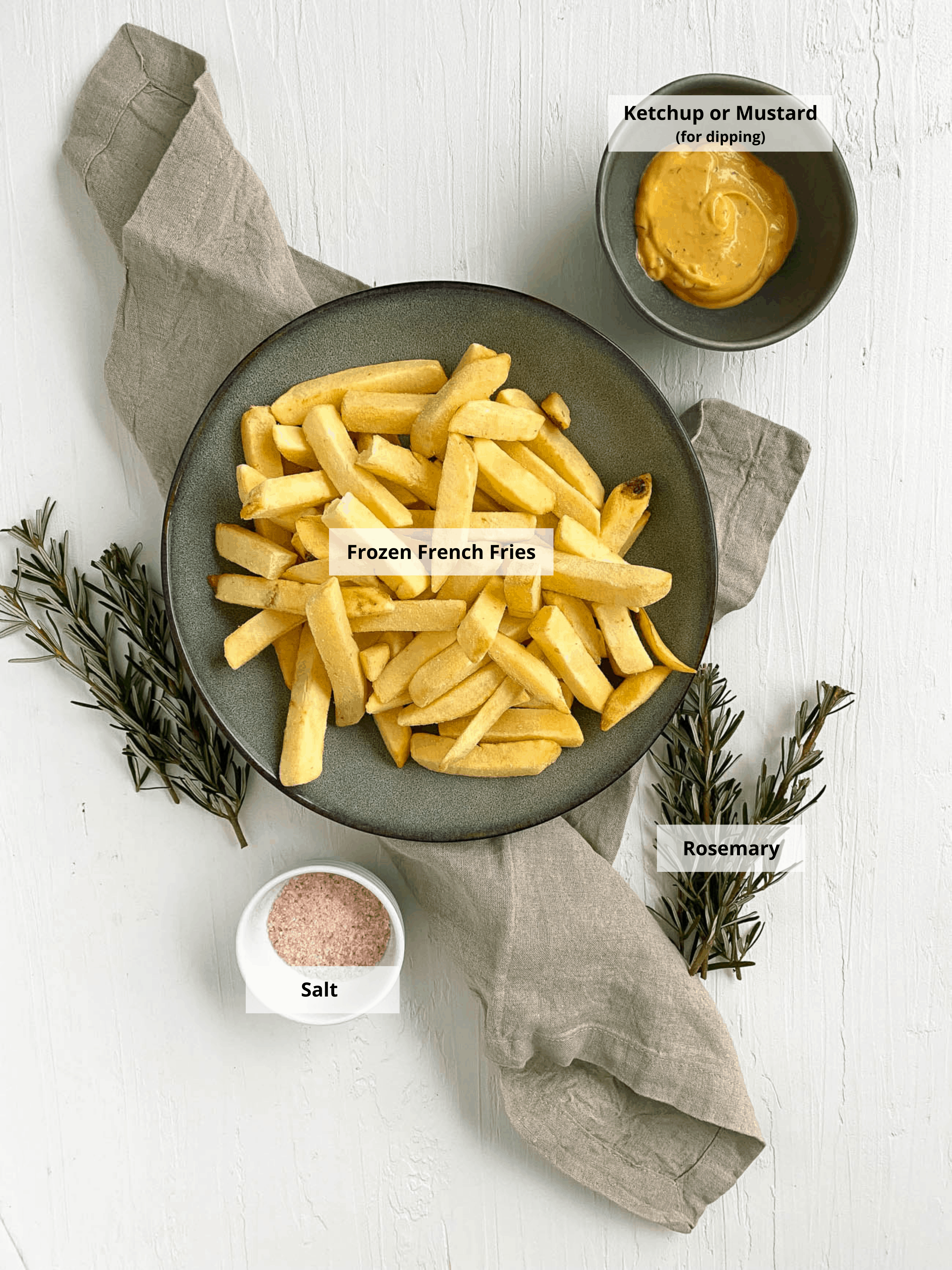 ingredients for air fryer frozen french fries