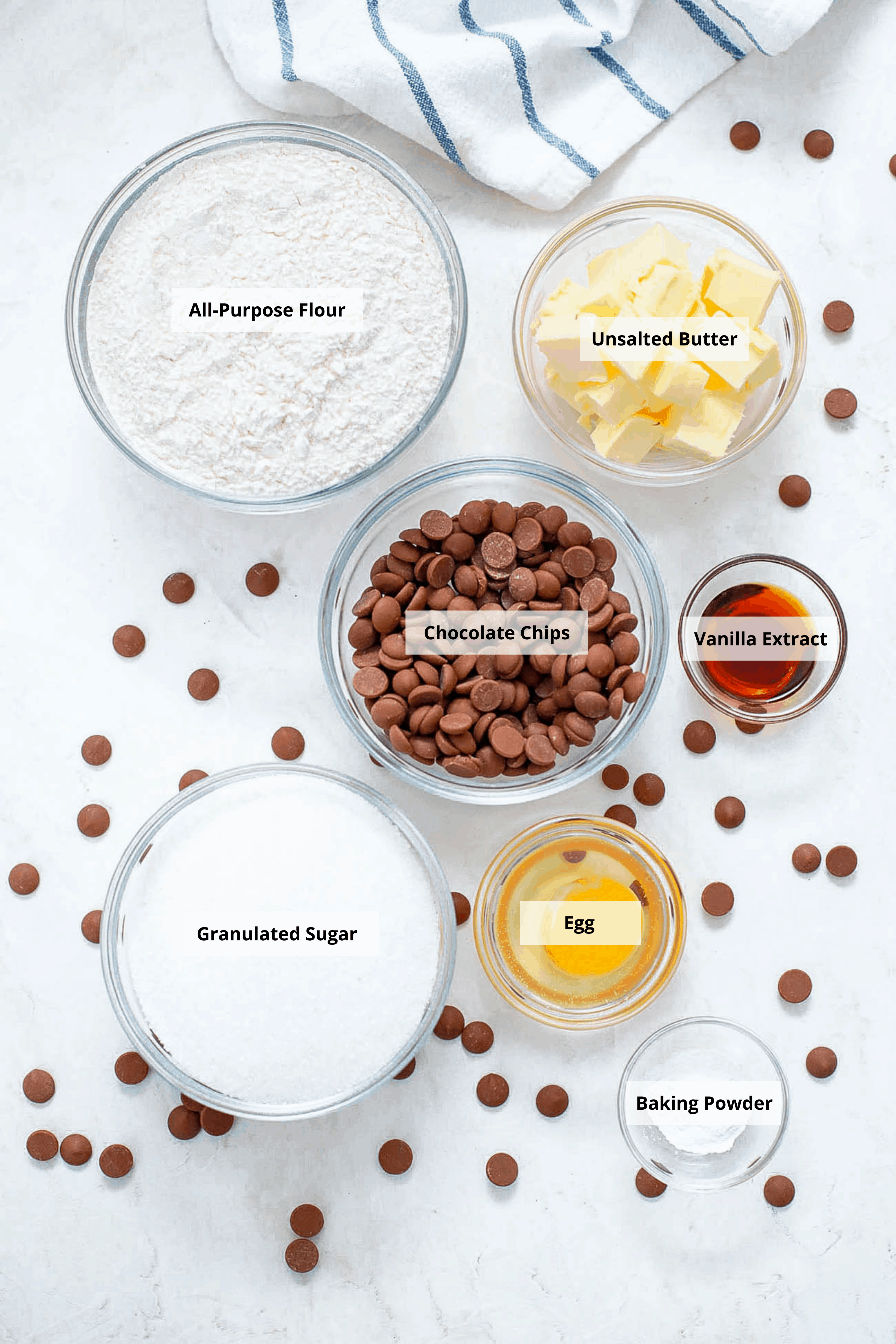 ingredients for chocolate chip cookies without brown sugar