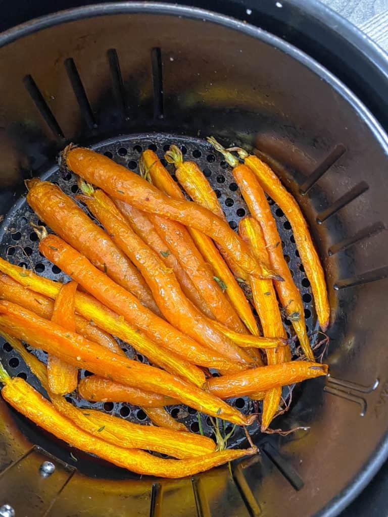 air fryer carrots in air fryer basket
