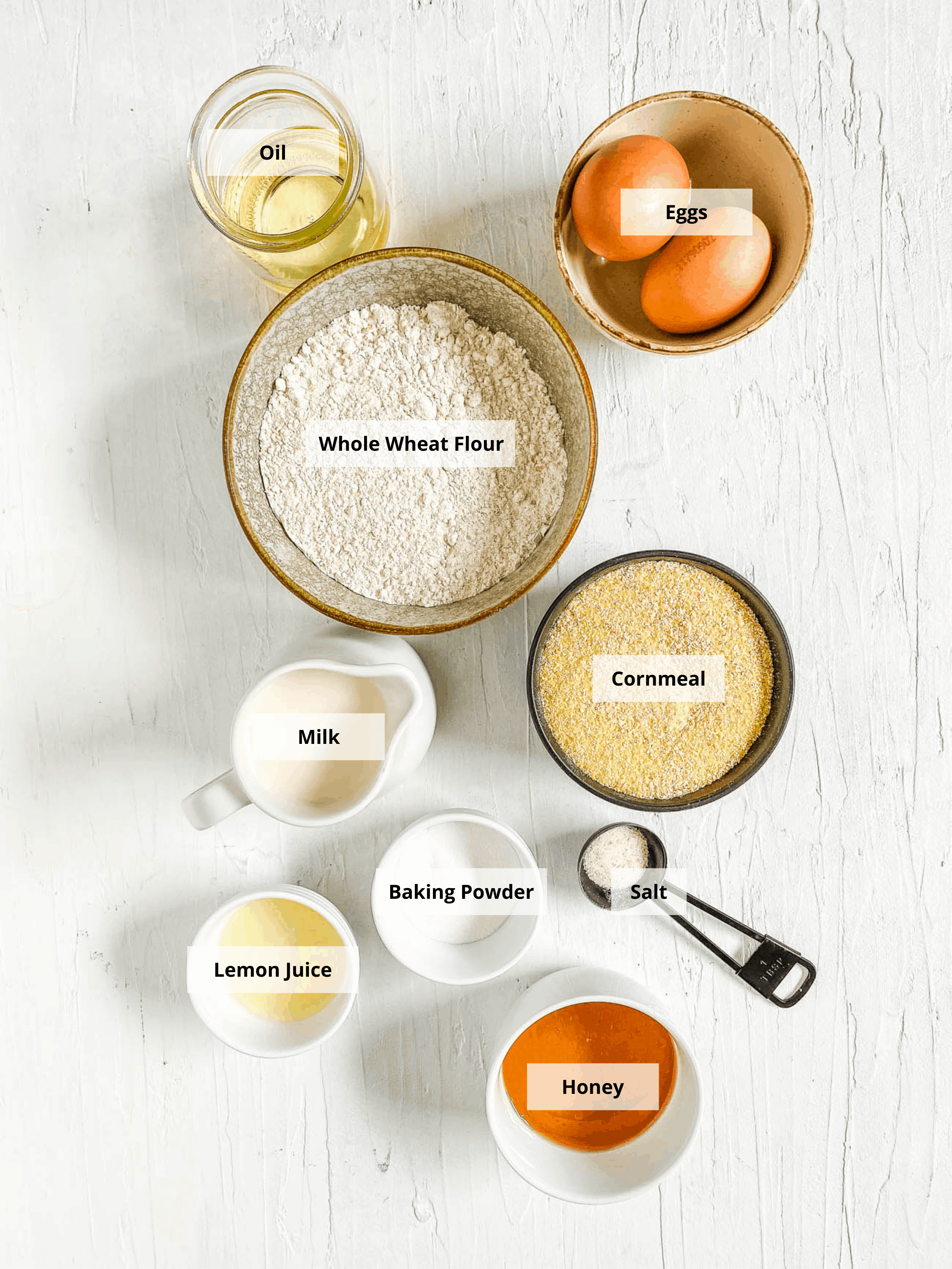 ingredients for healthy cornbread recipe