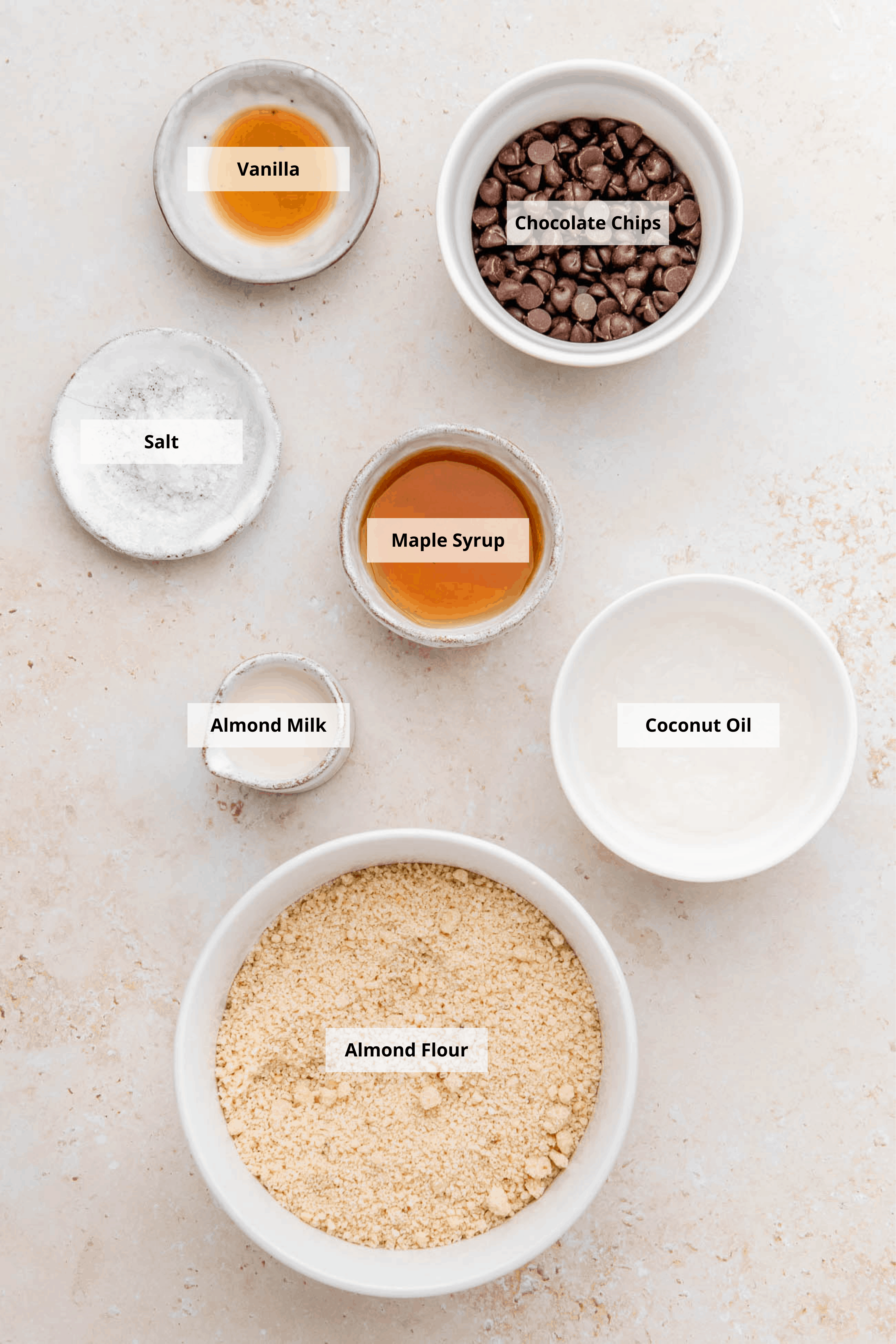 ingredients for healthy edible cookie dough