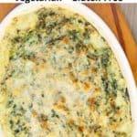 kale dip in ceramic serving dish