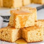 quick healthy cornbread recipe cut into cubes