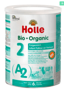 Holle A2 Stage 2 formula canister.