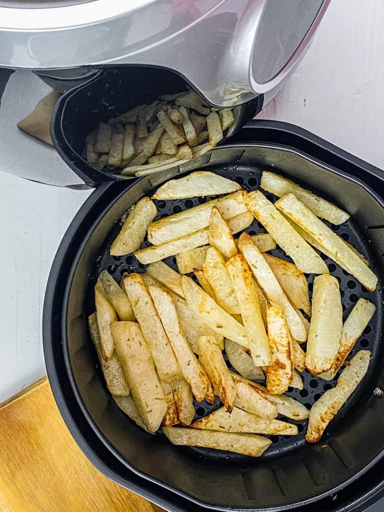 jicama fries in the air fryer