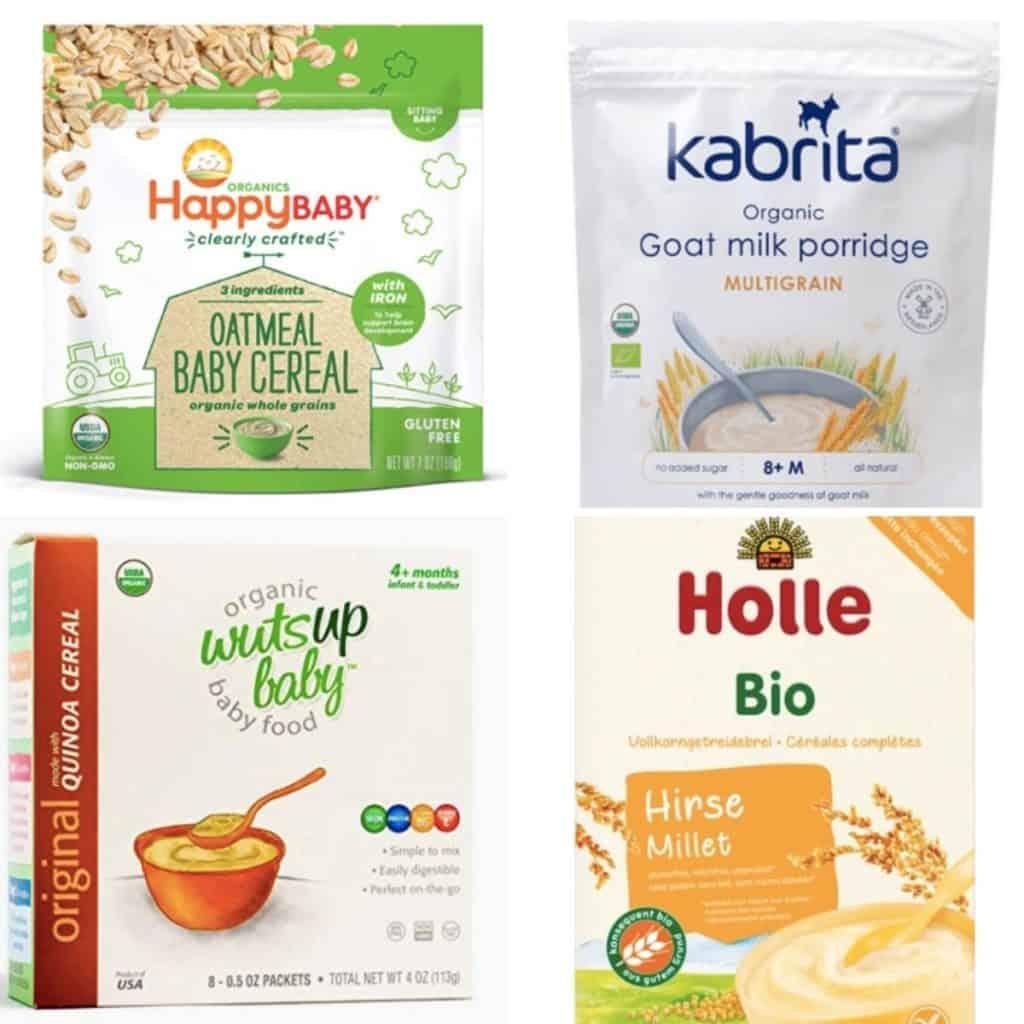 Baby Cereals: Happy Baby, Kabrita, Wutsup, Holle.