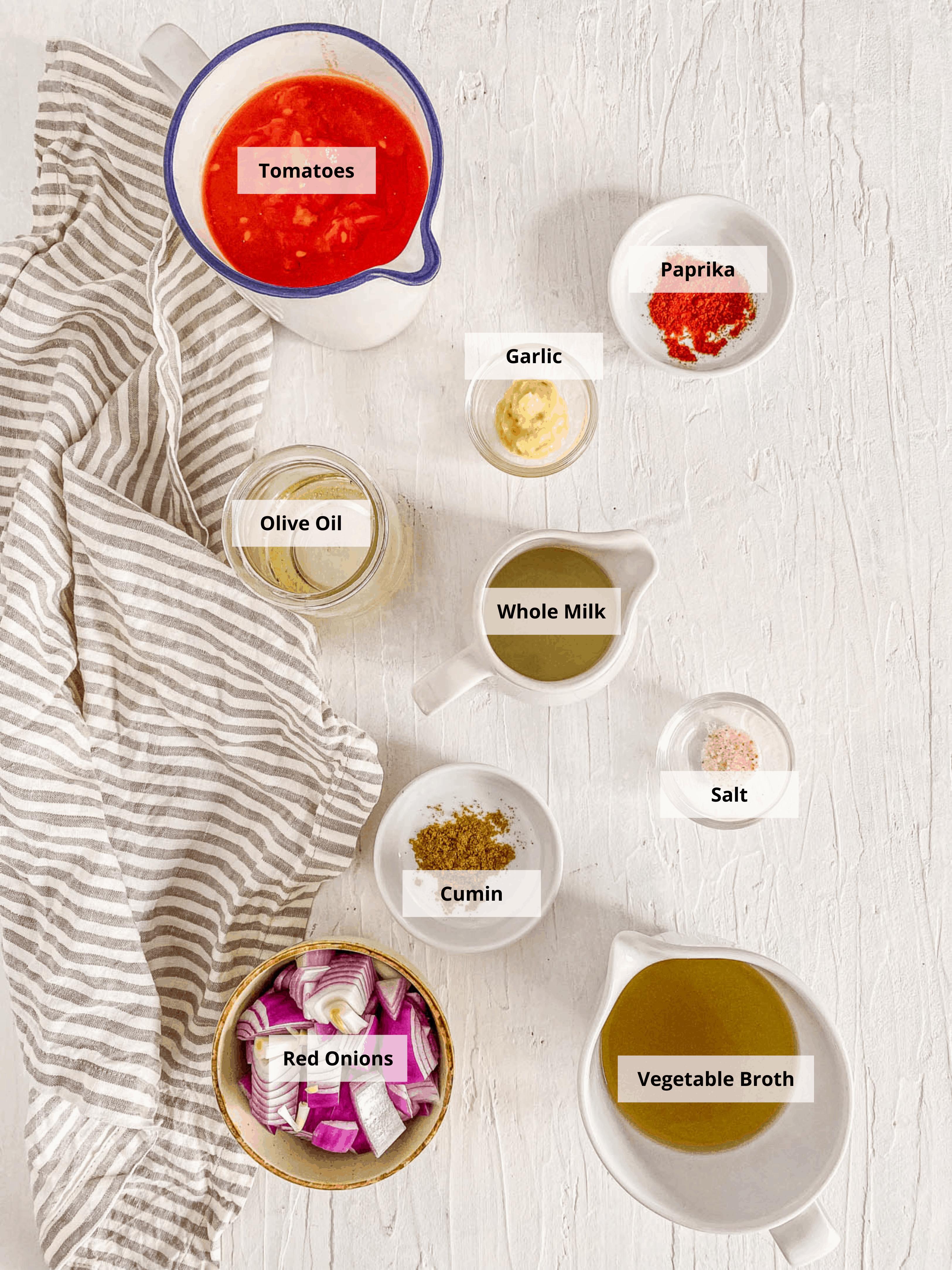 ingredients for instant pot tomato soup - keto tomato soup