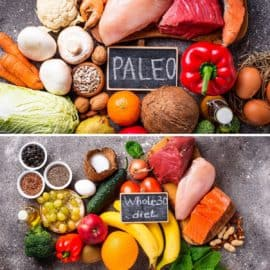 Foods to eat on the paleo diet, and foods to eat on the Whole30 diet.