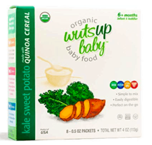 Box of Wutsup Cereal with Kale and Sweet Potato.