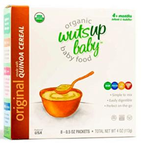 Box of wutsup original baby cereal.