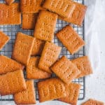 easy healthy homemade vegan graham crackers recipe on a wire rack