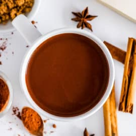 easy healthy hot chocolate with cinnamon recipe in a mug