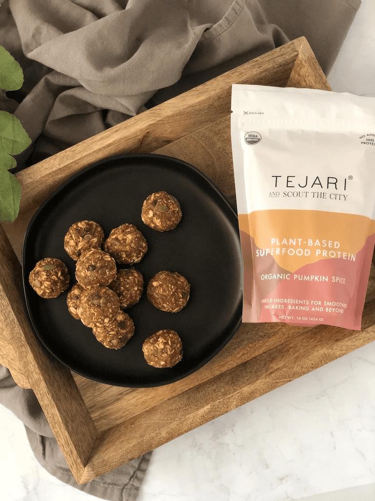 healthy pumpkin desserts - tejari pumpkin balls