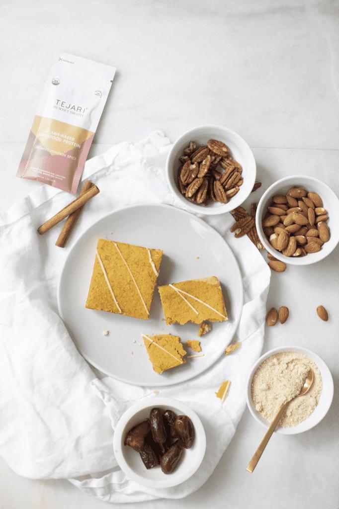 healthy pumpkin desserts - tejari pumpkin bars