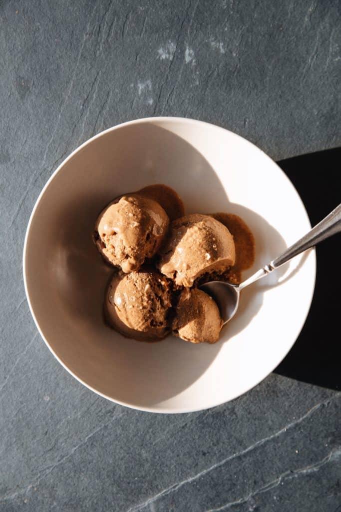 one bowl of pumpkin gelato - healthy pumpkin desserts